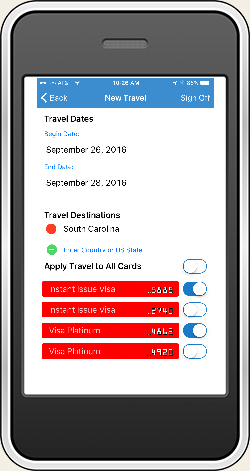 Card Management - Travel