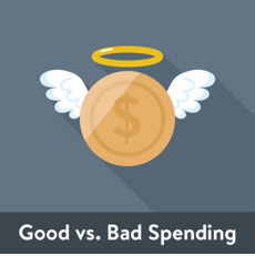 good vs. bad spending